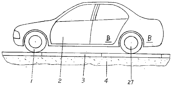 Fig.4: Drawing from patent CN107323303: The induction coils are built into the road surface (3).